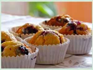 muffin de limón y arándanos