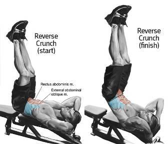 elevaciones de piernas para abdominales inferiores
