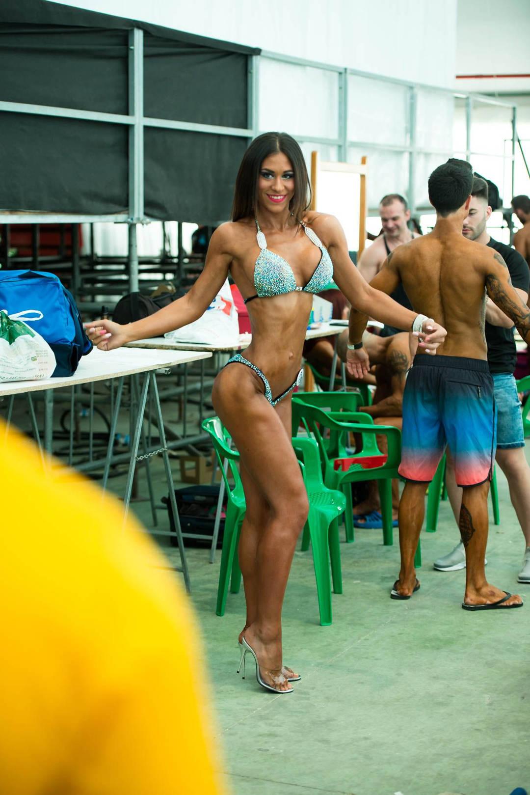 Ana Alvarez backstage