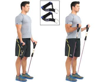 curl biceps con bandas para adelgazar brazos