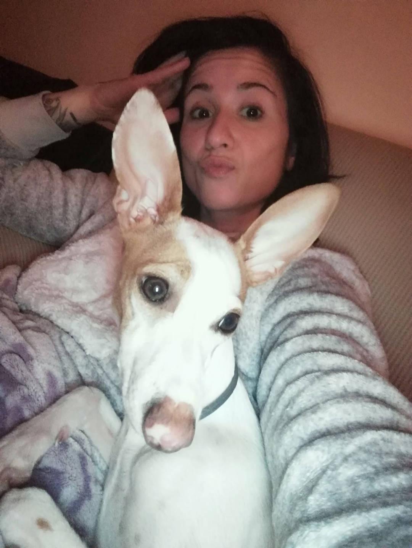 laura lopez y su perro