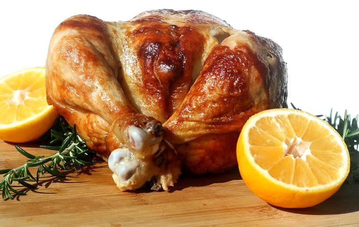 comida saludable y barata pollo entero